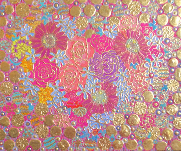 """Painting titled """"MON COEUR"""" by Chiori Ohnaka, Original Art, Pigments"""