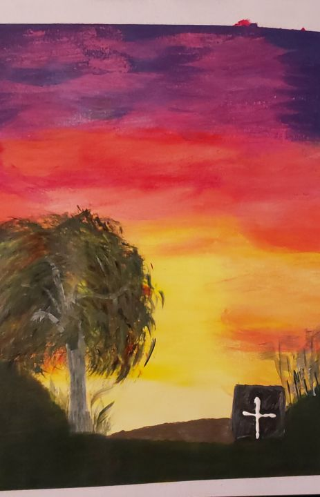 """Painting titled """"Nature's Bed"""" by Chiquita Thomas-Benson, Original Art, Acrylic"""