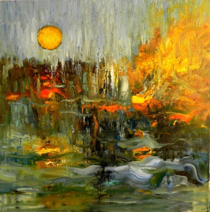 """Painting titled """"After the end"""" by Chirea, Original Art, Oil"""