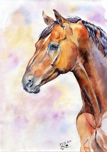 """Painting titled """"The Don horse/Дочак"""" by Veronikam..., Original Art,"""