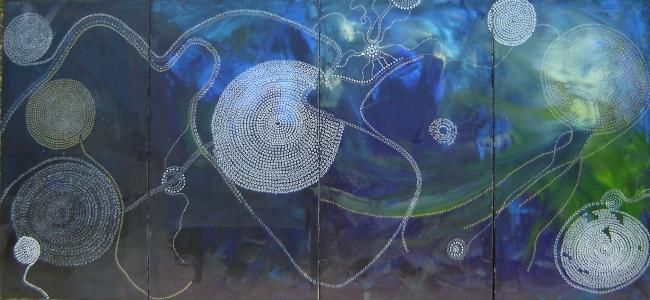"""Painting titled """"""""Genesis (to Day Tw…"""" by Chlee, Original Art,"""