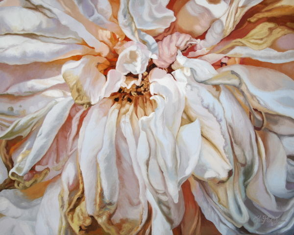 """Painting titled """"Faded Rose"""" by Chloe Hedden, Original Art, Oil"""