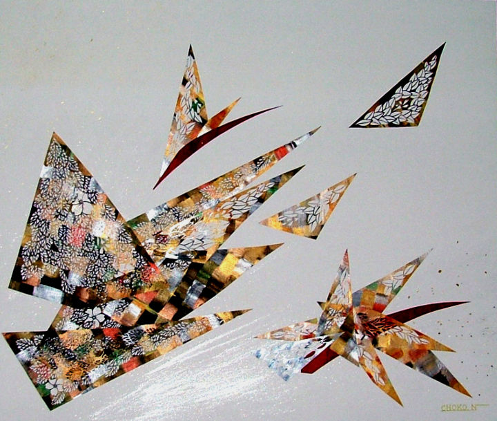seeds - artwork_cat.Artcraft,  20,9x25,2 in ©2014 by Choko Nakazono -            paper craft, design, abstract, beauty, contemporary