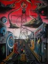 """Painting titled """"dependencyvile"""" by Choko, Original Art, Oil"""