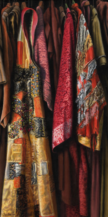 """Painting titled """"Costumes from the S…"""" by Chris Klein, Original Art, Acrylic"""