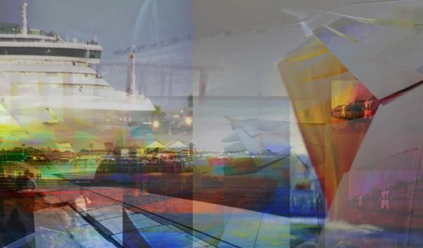 """Digital Arts titled """"Trains and Boats an…"""" by Chris Marshall, Original Art,"""