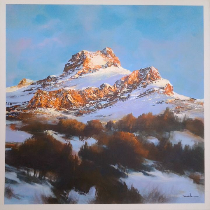 majestueuse-lumiere paysage montagne Painting by christian bessede | Artmajeur