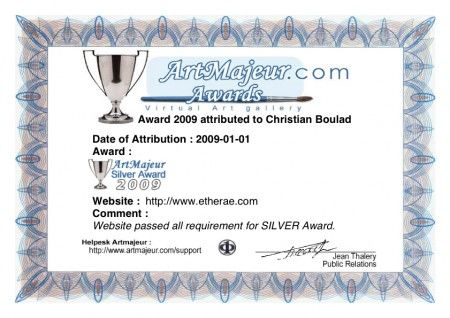Etherae Site- Silver Award by Art Majeur