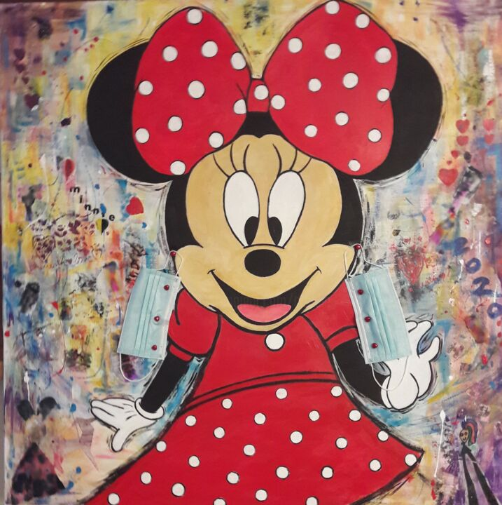 """Painting titled """"MINNIE 2020"""" by Christiane Guerry (C.B.GUERRY), Original Art, Acrylic"""
