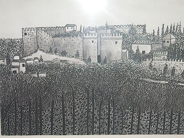 FORT ST-ANDRÉ, ENCRE DE CHINE - Drawing, ©2006 by Christiane Malet -                                                                                                                                                          Black and White, FORT ST-ANDRÉ, ENCRE DE CHINE