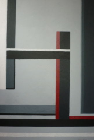 evolution - Painting,  47.2x31.5 in, ©2011 by Christian Salaun -                                                                                                                                                                          Abstract, abstract-570, abstrait décline en gris