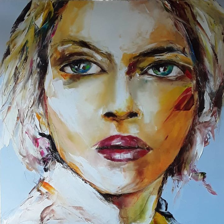 new 3 - Painting,  100x100 cm ©2018 by Christian Vey -
