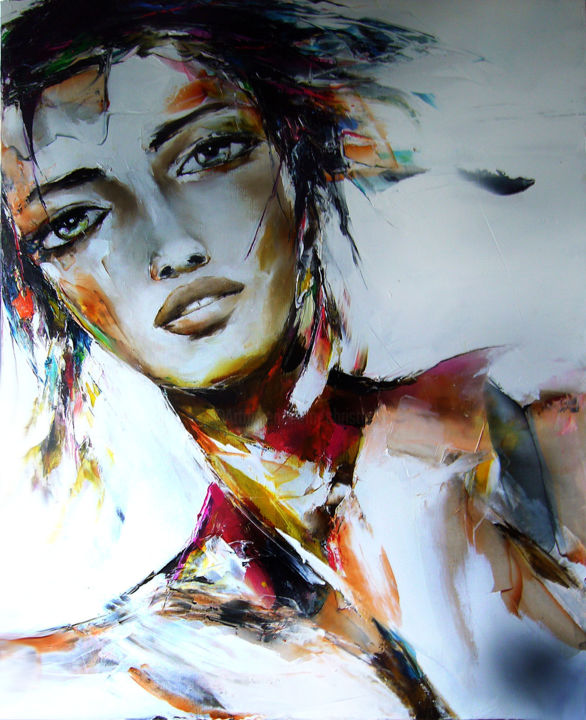 """Painting titled """"transparence #2"""" by Christian Vey, Original Art, Oil"""