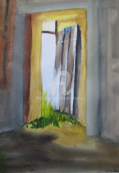 Painting, watercolor, figurative, artwork by Christine Chevieux