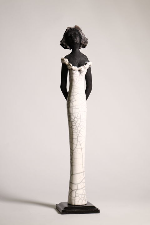 ALEXIE - Sculpture,  17.7 in, ©2020 by Christine Lavoute -