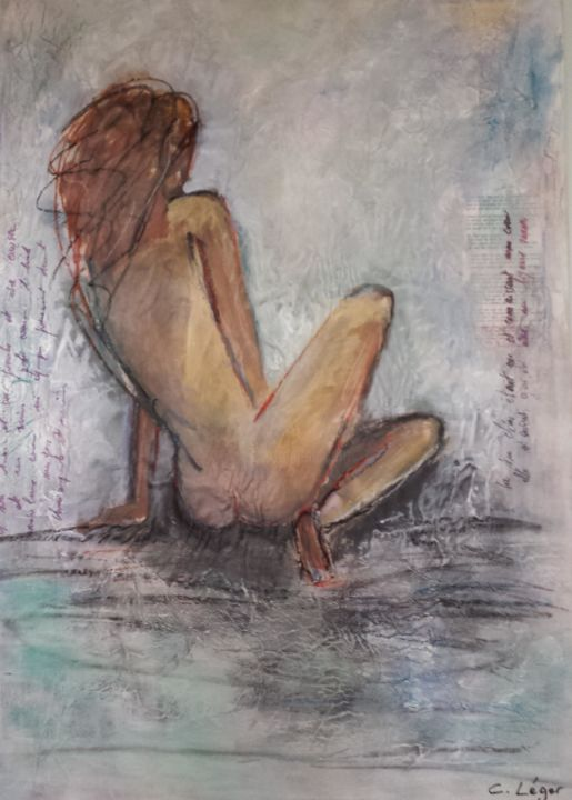 """Painting titled """"madame rêve"""" by Christine Leger, Original Art, Acrylic"""