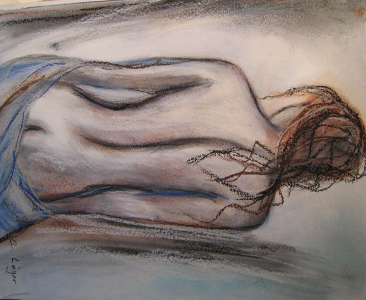 """Painting titled """"PROMESSE"""" by Christine Leger, Original Art, Acrylic"""