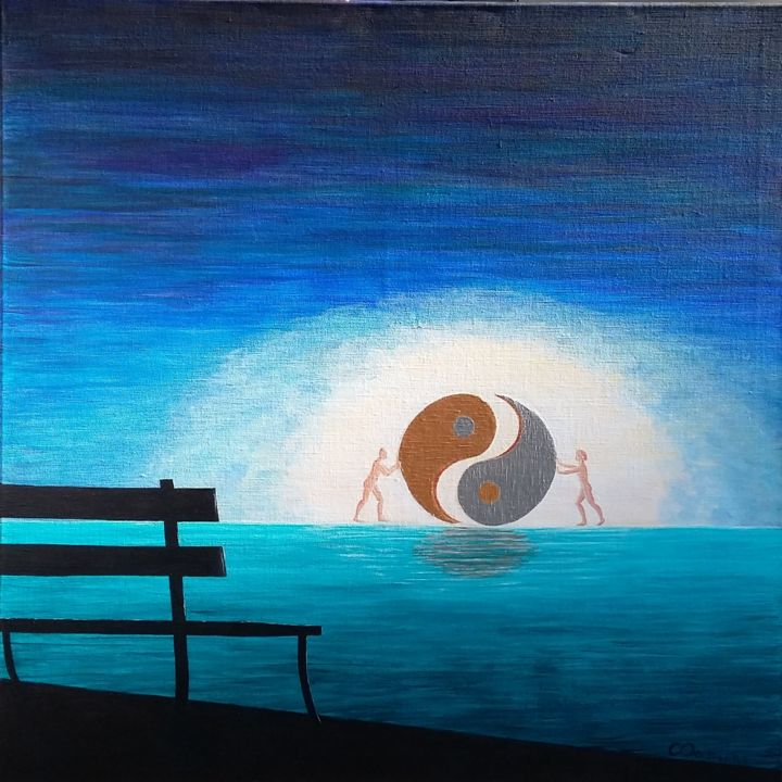 Painting, acrylic, naive art, artwork by Christine Damiens