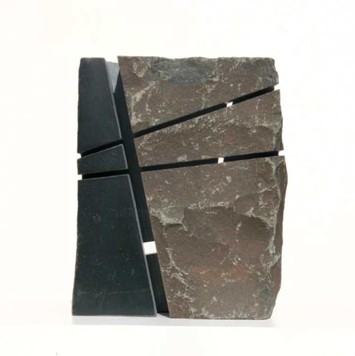 Bildstein 4 (2014) - Sculpture,  6.7x6.3x3.5 in, ©2014 by Christoph Jakob -                                                                                                                                                                                                                                                                                                                                                                  Abstract, abstract-570, Stone, Abstract Art, fine art, contemporary art, affordable art