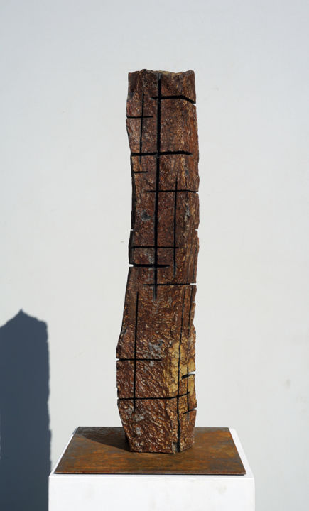 BS 18_05 (2018) - Sculpture,  25.6 in, ©2018 by Christoph Jakob -                                                                                                                                                                                                                                                                                                                                                                  Abstract, abstract-570, Bronze, Abstract Art, fine art, affordable art, contemporary art