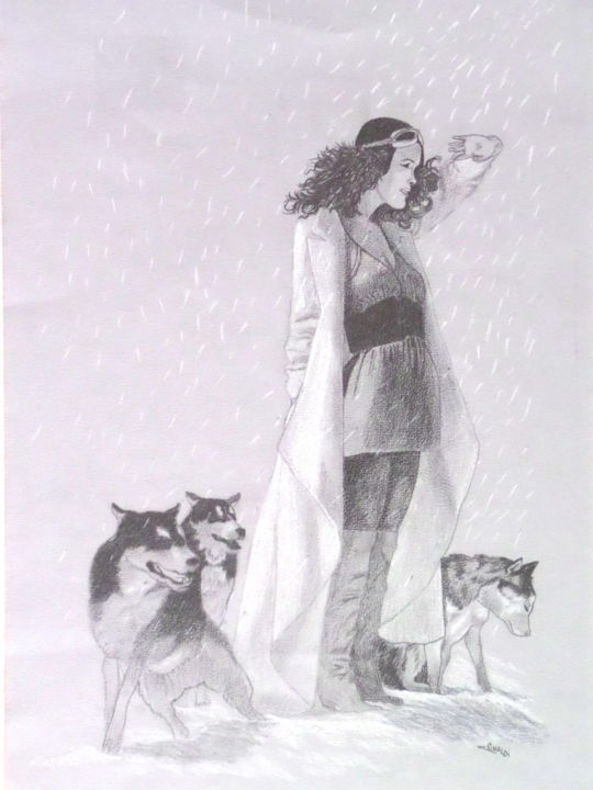 THE SNOW GIRL - Painting, ©2003 by Christophe Rinaldi -