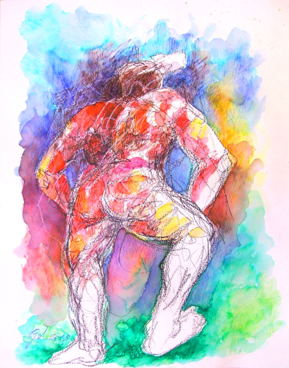L Homme Courbe Drawing By Christophe Gol Artmajeur