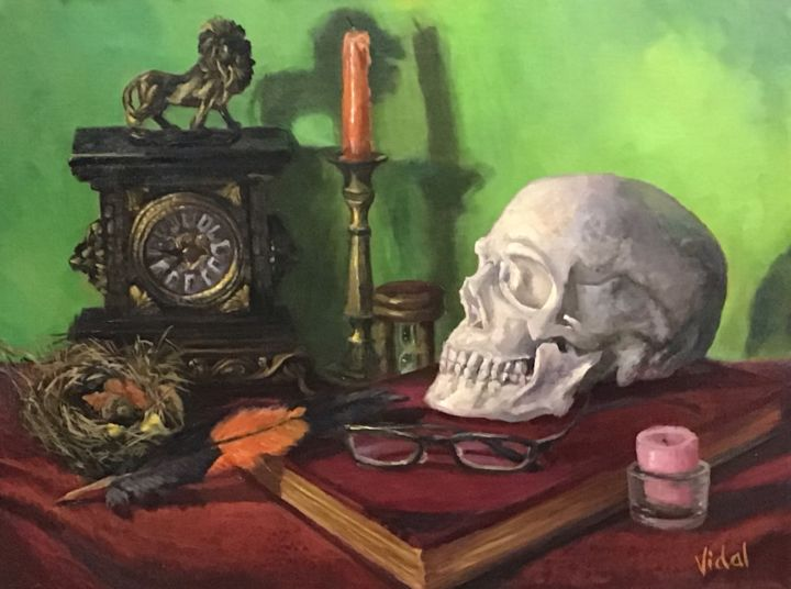 """Painting titled """"Time - Still life"""" by Christopher Vidal, Original Art, Oil Mounted on Wood Panel"""