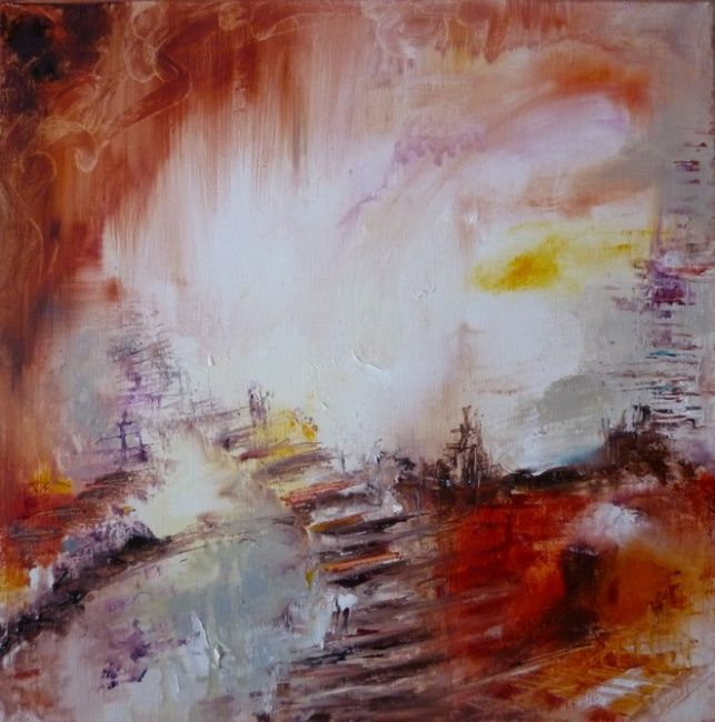 Painting,  40 x 40 cm ©2010 by Christelle Veron Cherbonnier -  Painting