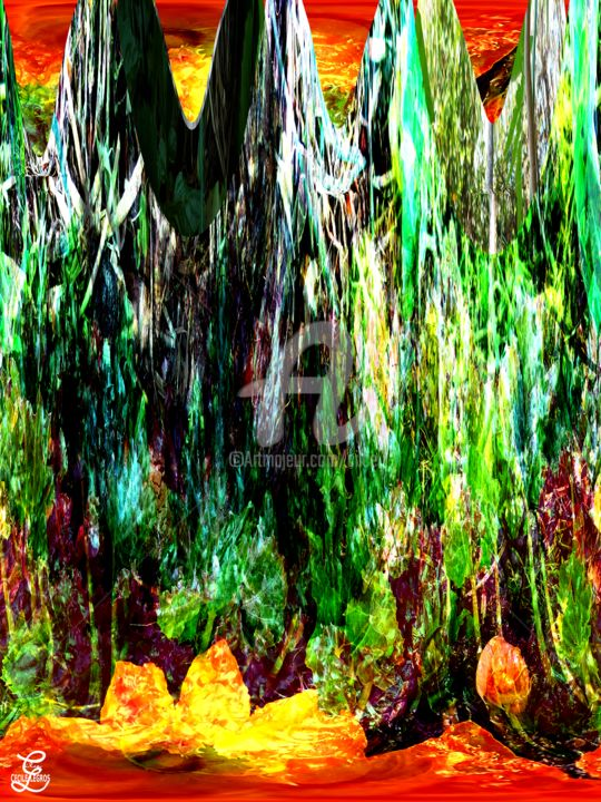 VEGETAL MAGMA - Digital Arts, ©2019 by Cilce -                                                                                                                          Abstract, abstract-570