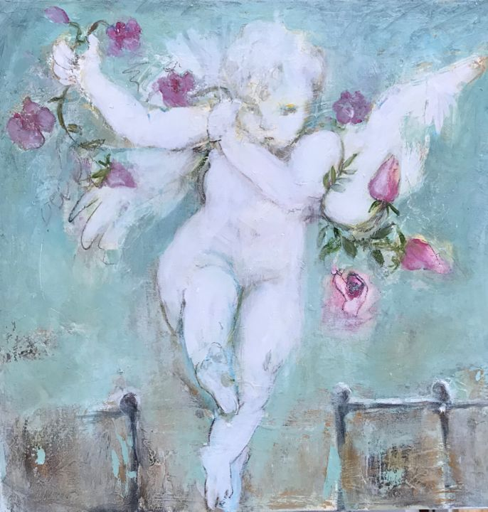 """Painting titled """"Leap of Faith"""" by Cindy Moore Caird, Original Art, Oil"""