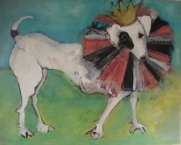 """Painting titled """"Portrait of a King"""" by Cindy Moore, Original Art,"""