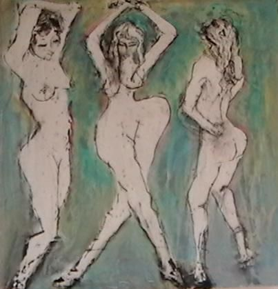 """Painting titled """"Dance Grooves"""" by Cindy Moore, Original Art, Oil"""