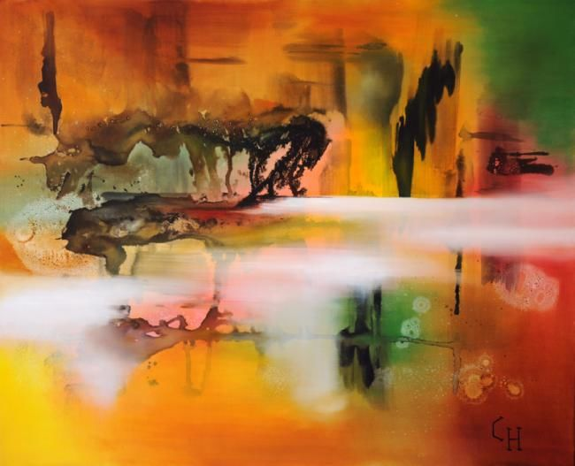 Sonate - Painting,  31.9x39.4 in, ©2011 by Claire Hamant -                                                                                                                                                                          Abstract, abstract-570, Peinture Abstraite - Sonate