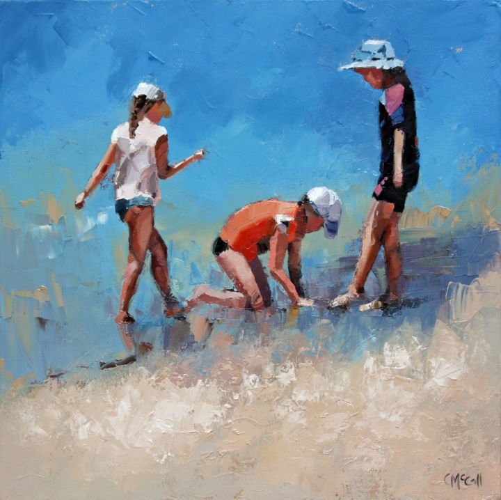 """Painting titled """"Summer Days VI"""" by Claire Mccall, Original Art, Oil"""