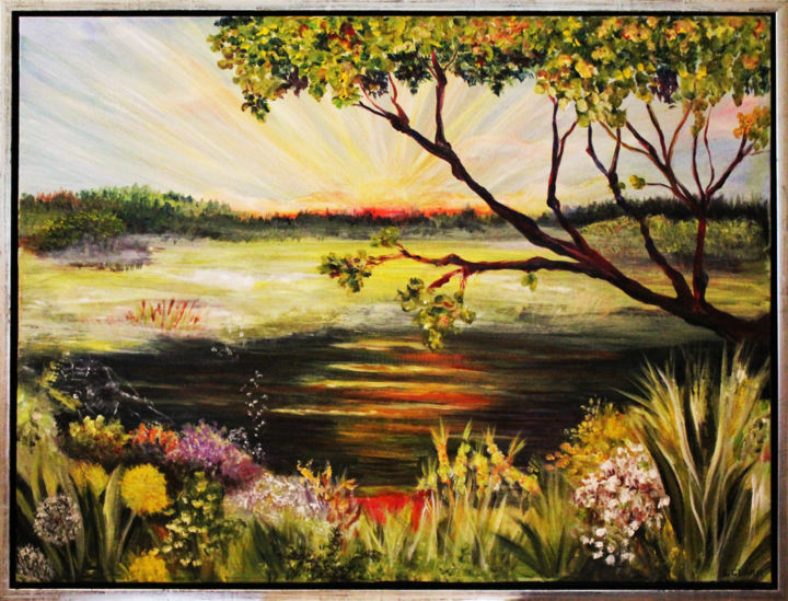 """Painting titled """"Early morning"""" by Clark'S Art, Original Art, Oil"""