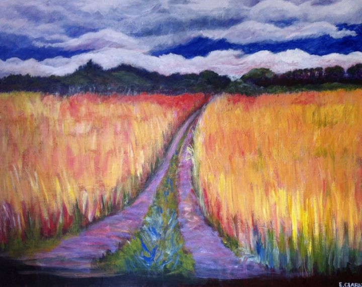 """Painting titled """"My way home"""" by Clark'S Art, Original Art, Acrylic"""