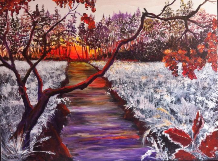 """Painting titled """"Frosty morning"""" by Clark'S Art, Original Art, Oil"""