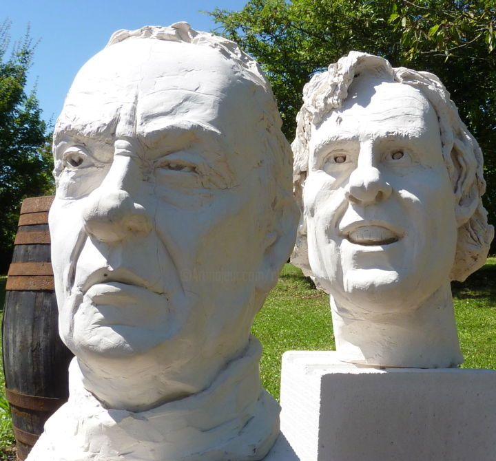 J CARMET et DEPARDIEU - Sculpture, ©2017 by claude DEMAY -
