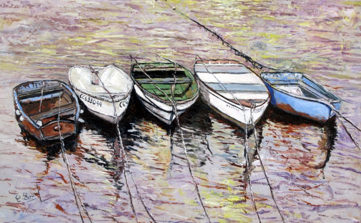 Barques bretonnes - ©  Marines Online Artworks