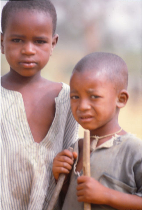 Enfants Maliens - Photography, ©1979 by Claude Grand -                                                                                                                                                                                                                                                  artwork_cat.Kids, Enfants Maliens, bergers maliens, Photos Mali, Photos Claude Grand