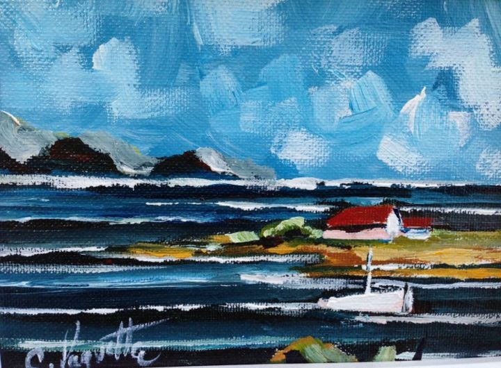 La pointe Sud - Painting ©2013 by Claude Paquette -