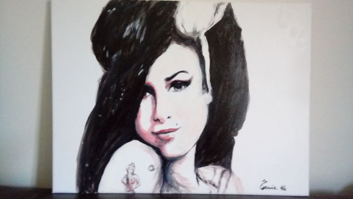 """Painting titled """"Amy Winehouse"""" by Tonia Gentile, Original Art, Acrylic"""