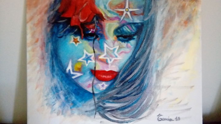 """Painting titled """"Miss sogno"""" by Tonia Gentile, Original Art, Acrylic"""