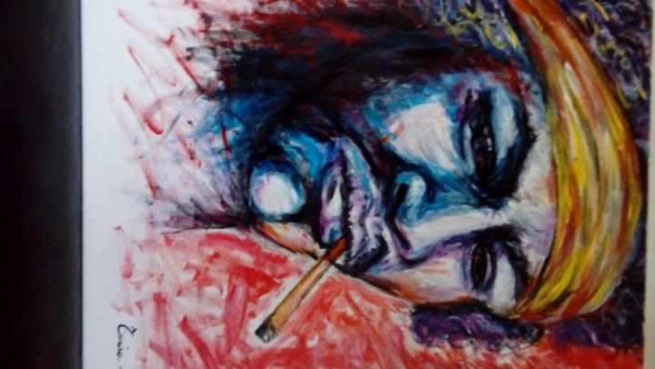 """Painting titled """"Jimmy Hendrix"""" by Tonia Gentile, Original Art,"""