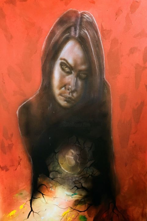 """Painting titled """"Harbinger"""" by Charles Lee, Original Art, Acrylic"""