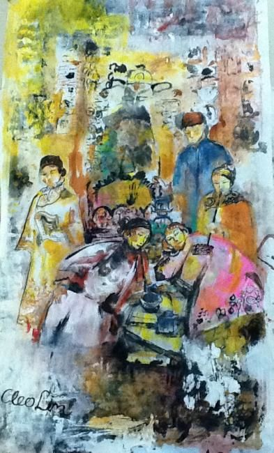"""Painting titled """"Wealthy Opium Smoke…"""" by Cleo Lim, Original Art,"""