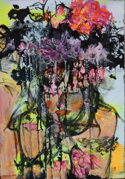 """Painting titled """"autumn-love-59-4-x-…"""" by Cleo Lim, Original Art,"""