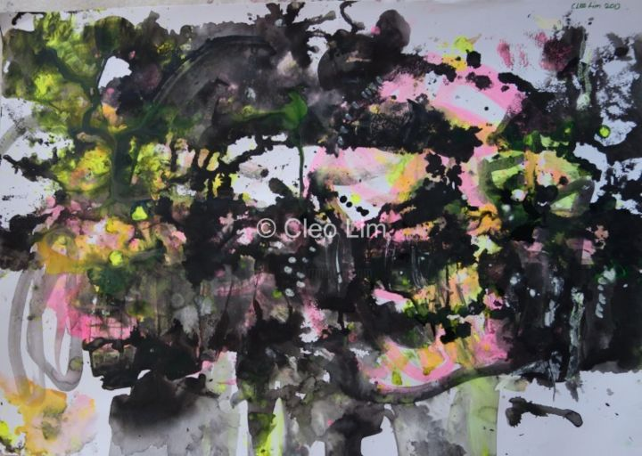 """Painting titled """"blackened-water-59-…"""" by Cleo Lim, Original Art, Oil"""