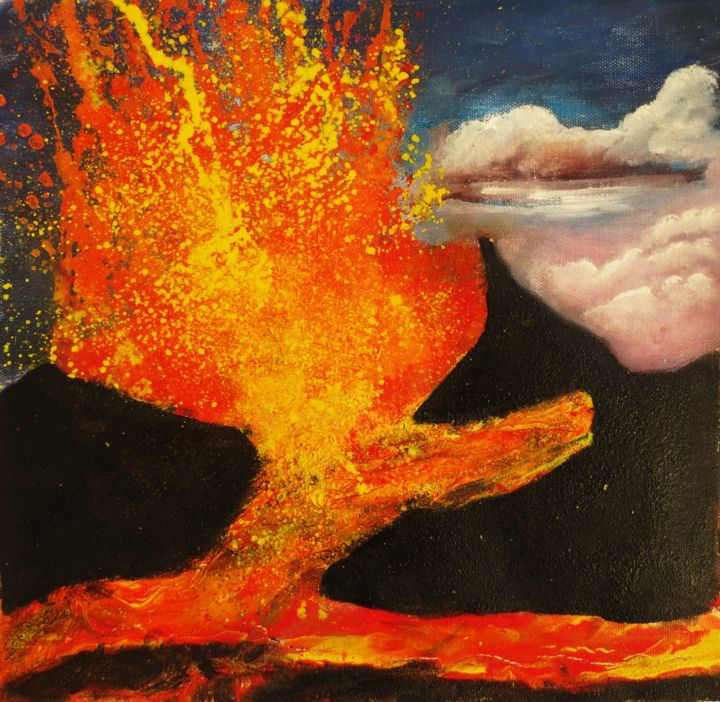 éruption du piton de la fournaise - ©  volcan Online Artworks