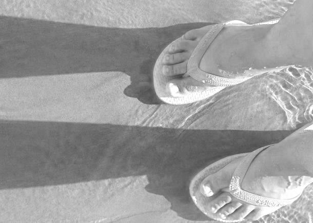 """Photography titled """"flipflops in the sa…"""" by Clo, Original Art,"""